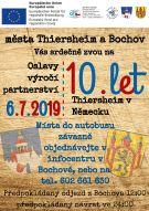 Srdečně Vás zveme na oslavy 10 let výročí partnerství Bochov - Thiersheim